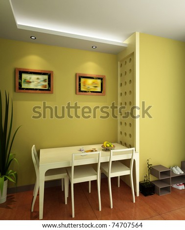 The modern room interior design - stock photo