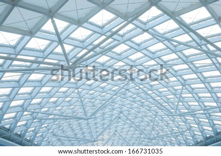The modern station building structure - stock photo