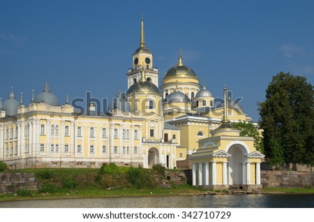 The monastery of Nilo-Stolobensky deserts in the Tver region, Russia