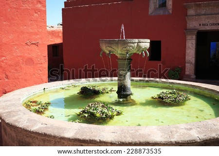 The Monastery of Saint Catherine (Santa Catalina), Arequipa, Peru  - stock photo