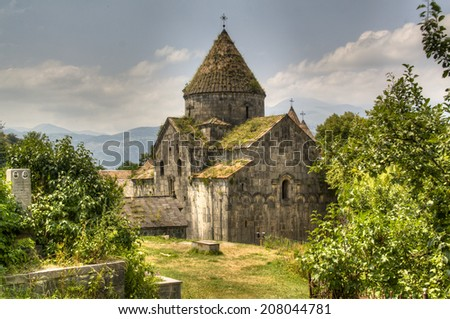 The monastery of Sanahin in Armenia