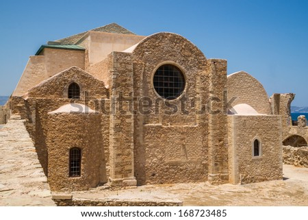 The Monastery of St. Peter and St. Paul, erected under venetian rule, in Heraklion, tha capital of Crete - stock photo