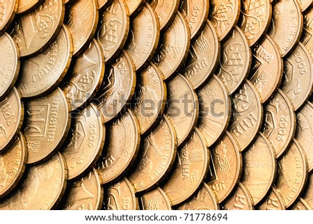 The monetary scales - stock photo