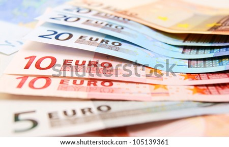 The money . Euro . - stock photo