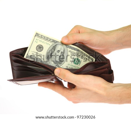 the Money in hand - stock photo