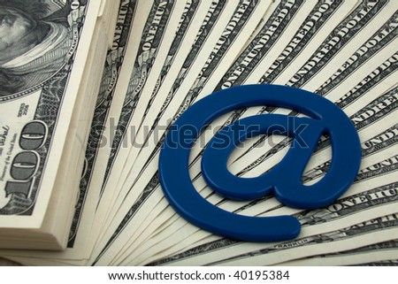 The money is in electronic mail - stock photo