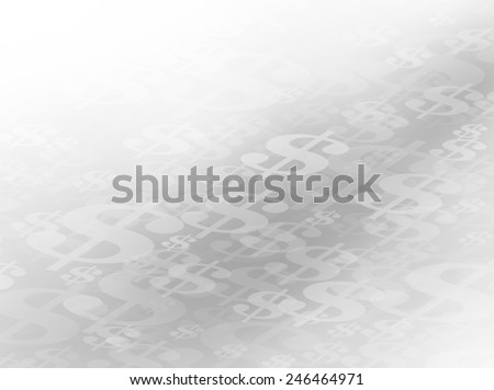 The Money Path. Abstract Flowing or Moving Gray Scale Dollar Symbols Background Path. Perfect for all Financial Communications. Plenty of copy space. - stock photo