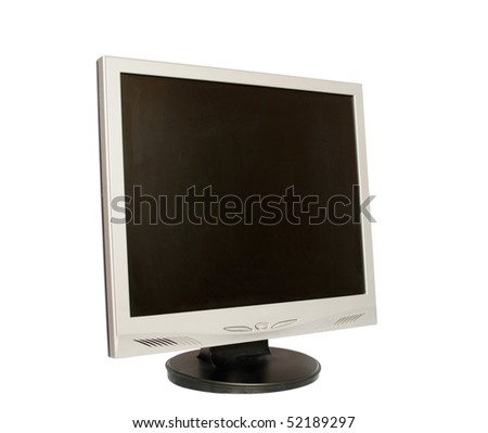 The monitor on a white background - stock photo
