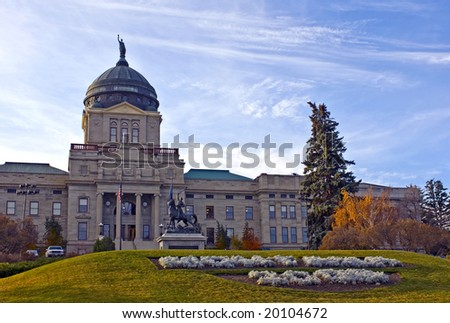 The Montana State Capitol Building in downtown Helena - stock photo
