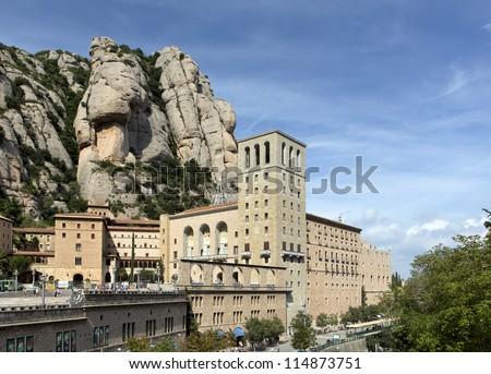 The Montserrat abbey in Spain - stock photo