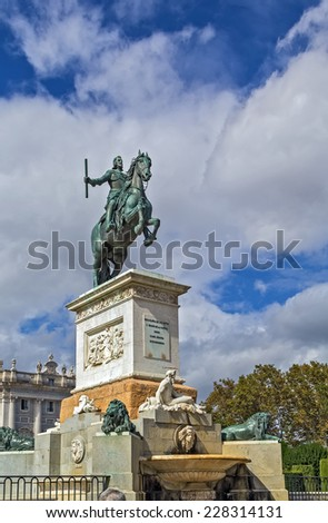The Monument to Philip IV or Fountain of Philip IV is a memorial to Philip IV of Spain in the centre of Plaza de Oriente in Madrid, Spain.