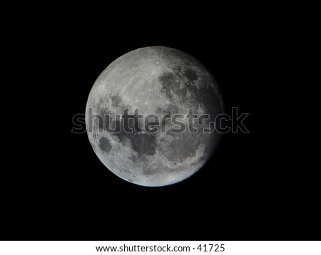 The moon close by - stock photo