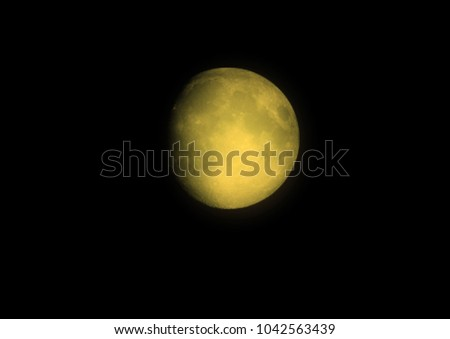 The moon in the night sky 3D illustration