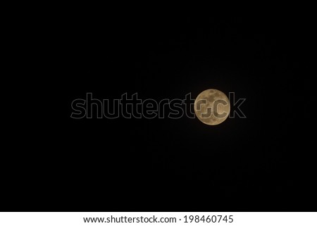 The moon seen from rural Uganda - stock photo