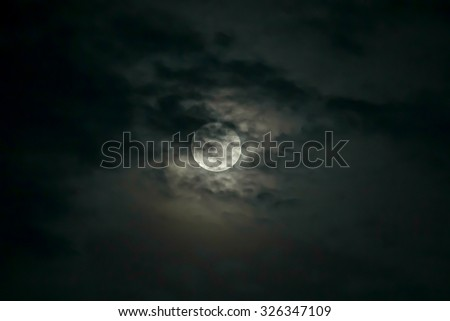 The moonlit sky.