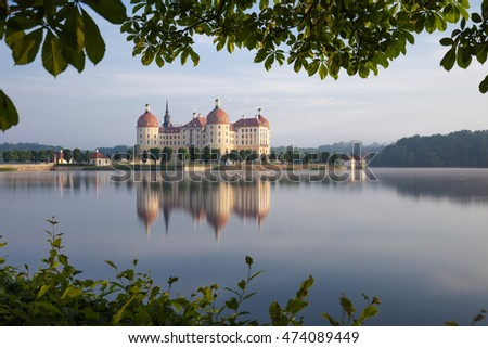 The Moritzburg Castle is a Baroque palace in Moritzburg in the German state of Saxony
