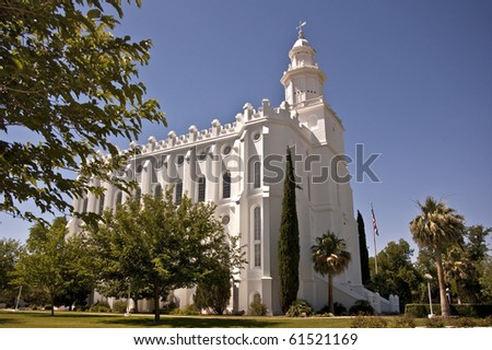The Mormon Temple in St. George, UItah - stock photo