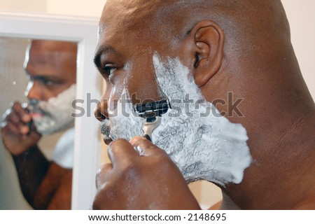 The morning routine - stock photo