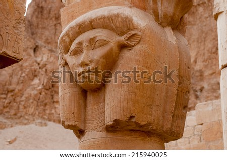The Mortuary Temple of Queen Hatshepsut, Egypt. - stock photo