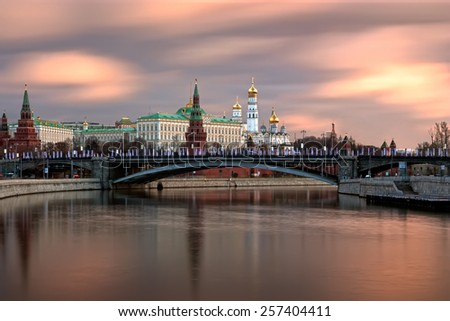 The Moscow Kremlin in the morning. - stock photo