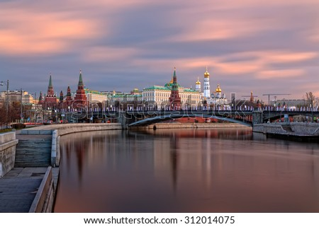 The Moscow Kremlin in the morning - stock photo