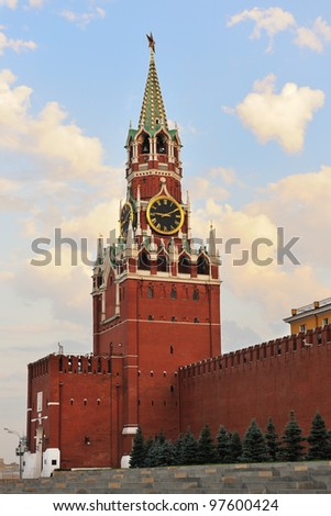 The Moscow Kremlin on a summer day. Russia - stock photo