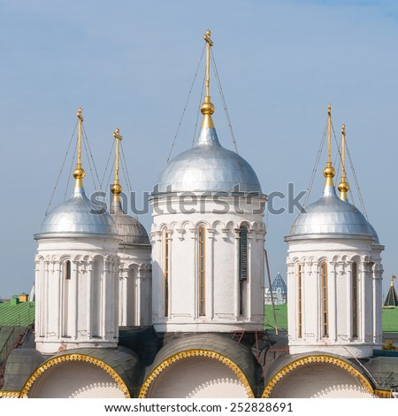 The Moscow Kremlin. Patriarch's Palace near Red square, Moscow, Russia. - stock photo