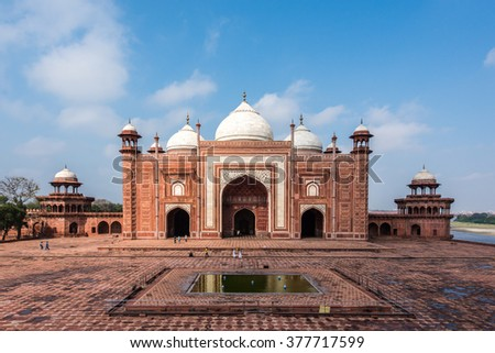 The Mosque for the emperor to pray in Taj Mahal area