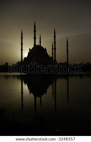 The Mosque in Adana Turkey - stock photo