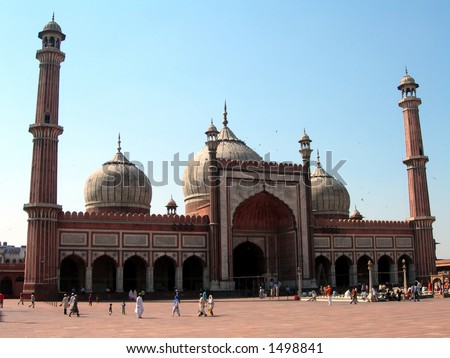 The mosque Jama Masjid in Delhi