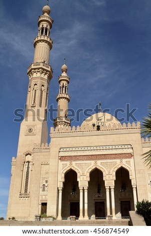 The Mosque of Aswan in Egypt
