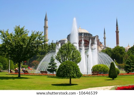 The mosque of Hagia Sophia from Istanbul, Turkey - stock photo