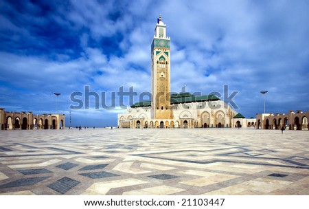 The Mosque of Hassan II in Casablanca - stock photo
