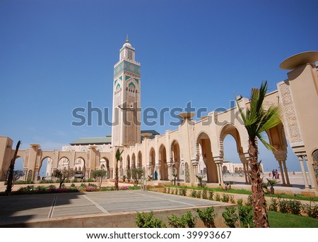 The Mosque of Hassan II in Casablanca - stock photo