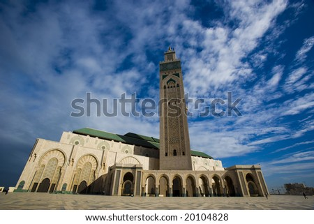 The mosque of Hassan II in Casablanca, Morocco
