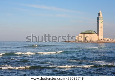 The Mosque of Hassan II in Casablanca, Morocco - stock photo