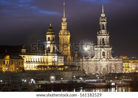 The most beautiful city in Germany, Dresden.  - stock photo