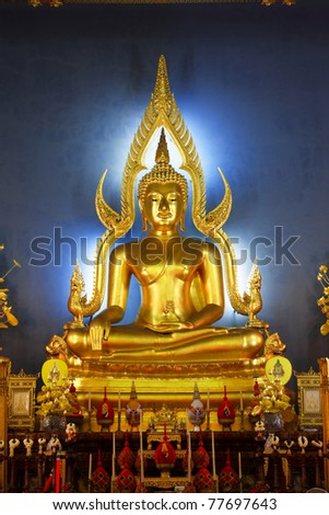 The Most Famous Buddha Image In Thailand, Bangkok - stock photo