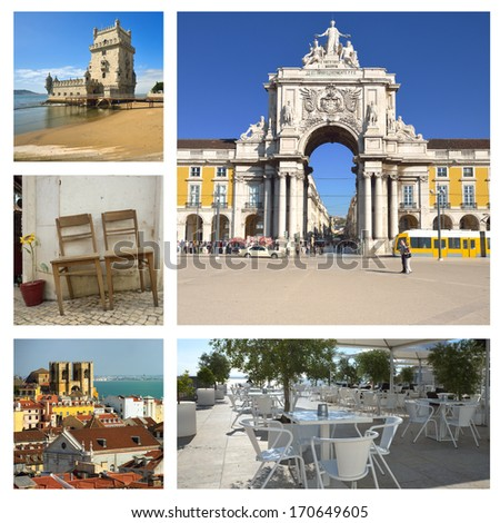 The most famous places in Lisbon. Portugal  - stock photo