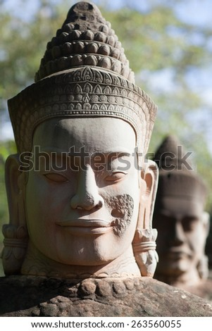the most famous  religious site in Cambodia - stock photo