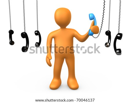 The most important phonecall - stock photo