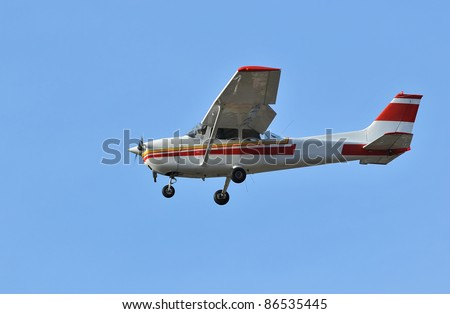 the most popular mass produced aircraft in history. A very popular single engined overwing light aircraft. - stock photo