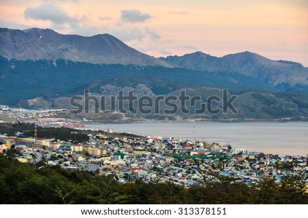 The most Southern port, In Ushuaia, Patagonia, Argentina - stock photo
