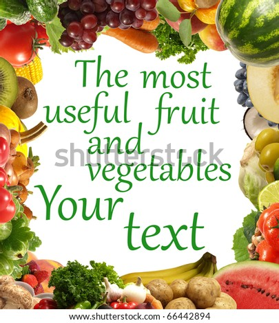 The most useful fruit and vegetables - stock photo