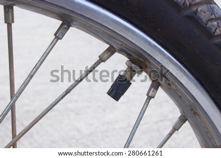 The motorcycle tire valve