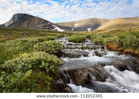 The Mount Fersman, Khibiny, Russia - stock photo