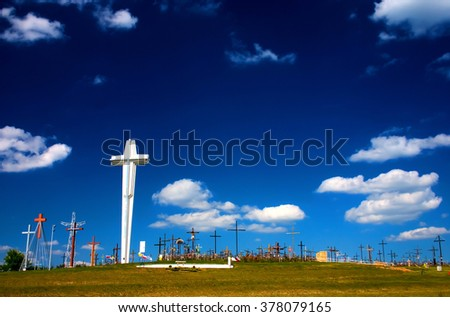 The Mount of Cross in The Sanctuary of Saint Mary, Eastern Poland- Podlasie