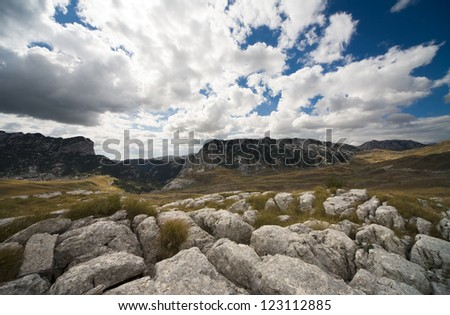 the mountain - stock photo
