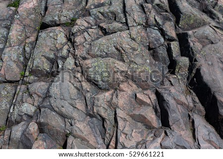 The mountain granite rock, can be used as backgrounds