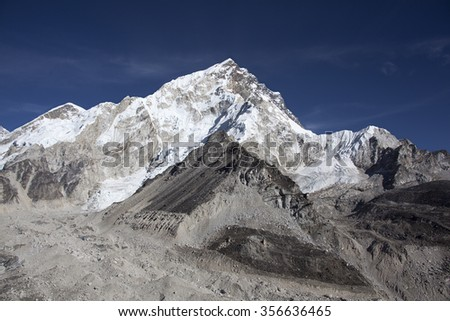 The mountain Khumbutse in Nepal.